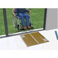 Tapis de propreté spécial fauteuil roulant. WHEELDOORMAT