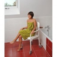 Chaise de douche pliable tobago avec roulettes