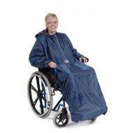 Protection intégrale avec manches pour fauteuil roulant, lv medical